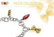 Pasta Collection / Sterling Silver and Enamels Costume Jewelry, entirely handmade in Italy. Create your favorite recipe on www.gioiellidop.com/store