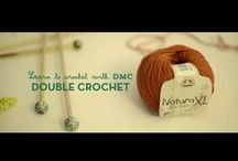 Crochet for Beginners Video with DMC / We've teamed up with DMC to offer an exclusive beginner crochet video series. You'll learn how to Chain Stitch, how to Double Crochet/Single Crochet, how to Increase, how to Decrease, how to crochet Magic Ring and how to Treble Stitch.