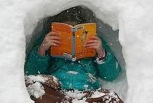 Winter Reading / There's nothing like snuggling up with a good book on a cold winter day...