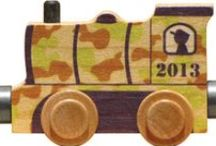 Wooden Name Trains / Spell your child's name with our wooden name trains.  Choose your letters then add an engine and caboose.