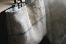 Love Linen / New linen fabric, old linen fabric, love it all.  / by The Barn at 11 Maynard