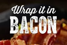 Bacon Wrapped Goodness / Anything and everything should be bacon-wrapped. This board of bacon-wrapped recipes will have you wrapping things in bacon for every meal.