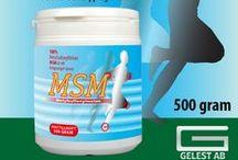 MSM - Metylsulfonylmetan - Gelest AB / 100% MetylSulfonylMetan. MSM är ett kroppseget ämne.
