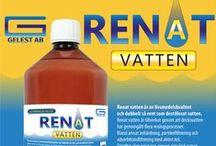 Renat Vatten - Gelest AB / Renat vatten är av livsmedelskvalitet och dubbelt så rent som destillerat vatten. Destillerat vatten håller typiskt 2-3 microSiemens (uS) renhet. Renat vatten ligger på under 1 uS.