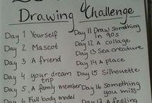 Drawing Challenges // チャレンジ