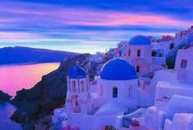 ~ Exotic Islands of Greece ~ / Majestic blue waters, white washed homes, colorful flowers and stunning sunsets. Celebrate the beauty of the Greek Islands.