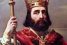 Merovingian Kings / The Merovingian kings were the first kings of France following the fall of the Roman Empire.  The later Merovingian kings were known as puppet kings; since they were tokens and did not have real power.  Their puppet masters were powerful noblemen who assumed the title: Mayor of the Palace.