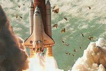 Space shuttle / Blast off