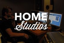 Home Studios / Cool home studio setup inspiration for the DIY musician.