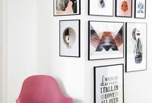 Picture Ledge / Gallery Wall / Ideas and inspiration for a gallery wall or picture ledge to place pictures and art in any room in your home, bedroom, living room, nursery, kitchen, lounge.