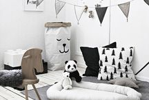 Monochrome Kids Bedroom Inspiration / Monochrome kids bedroom ideas for black and white inspiration, scandi inspired kids interiors, Scandinavian style