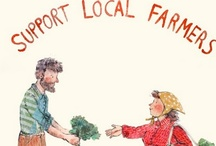 -EAT LOCAL- / Eating locally grown food connects you with your local farmer and the land around you, supports your local economy, and provides you with fresh food!  Win, win, win!