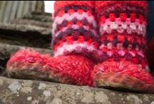 Pothies / Crocheted Slippers / These are my passion, my lively hood, my work. I make crocheted slippers from yarn and wool and sell them all over the world! please come and visit me at www.pothies.co.uk or www.facebook.com/pages/Handmade-Slippers-Pothies.
