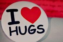 HUGS, great big ones / hugging at is very best, hug, love and wear crocheted slippers!
