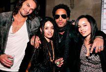 LISA, LENNY, ZOE & JASON / Lisa Bonet, Jason Momoa, Lenny and Zoe Kravitz / by Kat