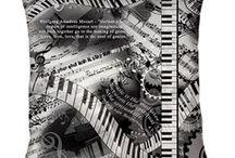 Music Theme Home Decor by Juleez / Music Theme Home Decor products by Juleez featuring msuic themed artwork