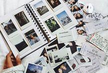 polaroid scrapbook