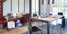 Style Industriel / La tendance est au métal ! La décoration industrielle fait son grand retour. L'occasion de craquer sur d'anciens meubles, des fauteuils club et murs en brique. Indispensable pour donner du cachet à nos intérieurs. Un conseil : privilégiez les couleurs rouge brique, gris, noir, beige et marron.