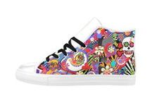 Sneakers Art Shoes by Juleez / Colorful Art Sneakers Art Shoes by Juleez.  Printed artwork on sneakers, shoes, and boots.