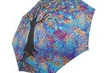 Colorful Umbrellas by Juleez / Colorful Art Printed Umbrellas by Juleez. Umrellas featuring coloring artwork by Juleez.