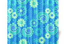 Shower Curtains Colorful Art by Juleez / Shower Curtains featuring Colorful Art by Juleez.  Offering a variety of colorful designs and custom options.