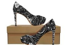 High Heeled Print Shoes by Juleez / New from Juleez and artist Julie Borden, High Heeled Printed Pumps. A variety of styles from classic to florals, gothic, prints and pop art fashion styles.  Custom designs are also available.