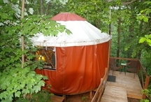 Cedar House Inn's Yurts- Glamping / We have two yurts at our eco friendly bed and breakfast inn, Cedar House Inn and Yurts. #yurts #glamping #dahlonega #georgia