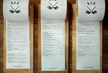 menu design / bar and restaurant menu design - food and cocktails