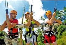 Georgia Zip Lining / Zip lining is becoming popular in Georgia for those who enjoy the outdoors and some excitement. #zipline