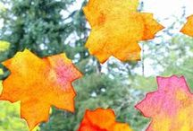 Autumn and Fall crafts and activities / Autumn crafts for kids :: fall sensory play :: autumn activities for kids and families