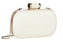 Couture White / White purse, clutches and totes