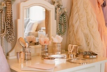 Beauty: Vanity / I love make-up vanities and all the CUTE set up ideas!!