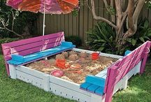 Outdoor: Kids Area / Gardening and watching the kids play is a dream for one day... Here are a few CUTE ideas I have found!