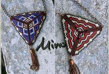 gyöngy háromszög / by Gazsó Rita