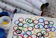 Olympic Crafts and Activities for kids / Great olympic themes crafts, activities and makes for kids