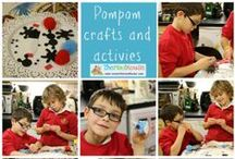 Pompom crafts and activities / Crafts and activities all to do with pompoms for both adults and kids