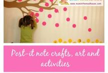 Post it note crafts and activities / Crafts, art and activities that can be done using post it notes