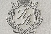 Monograms & logos/ Монограммы, логотипы и гербы для свадебной полиграфии