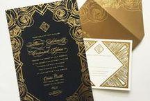 Art Deco invitations/ Приглашения в стиле ар-деко