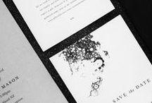Black & white invitations