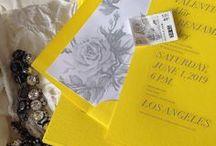 Yellow invites/ Желтые приглашения