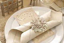 Napkin folding/ Складываем тканевые салфетки