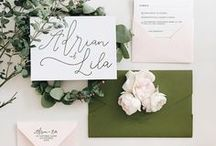 Green and Pink Stationery