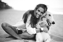 Girls and dogs / Two of my favourite things to look at...