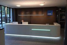 brandvorwerk ias karlsruhe / Planung des Eingangs- und Empfangsbereiches der IAS Zentrale in Karlsruhe (Zeitraum 2013-2014) AG: noncon:form Leipzig