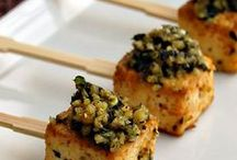 Food - Nibbles Hapjes Appetisers / Nibbles for parties.  Finger food.