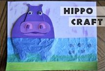 """Hippo Hula / Crafts and activities with hippos and/or hula dancing. Inspired by our book, """"Hippo Hula""""!"""