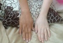 Cocoa Brown Before & After Photos / Before & After of Cocoa Brown Tan application