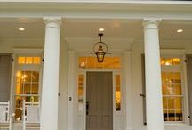 front door - porch