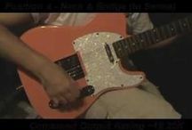 Axe Wives' Club - Wilma / Pictures and videos of a Modded Xaviere XV-820 Orange Capri Tele style guitar that I used to own.